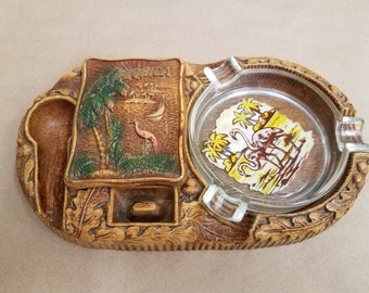 Vintage Pipe Holder with Ashtray