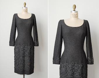 vintage 1960s dress / 60s wool dress / 1960s mr blackwell dress / Charlotte dress
