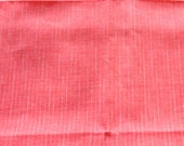 Vintage Red Gauze Weight Fabric, Pin Striped Lightweight Retro Material, Sporty Semi Sheer Fabric, 44 inches by 8 feet