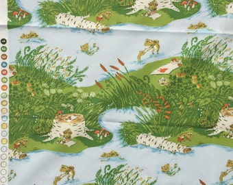 Heather Ross Briar Rose frog pond blue FQ or more OOP HTF