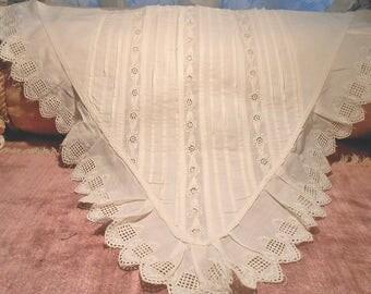 Lace Antique Edwardian Cotton Lace Dress Front