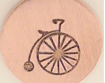 Metal Design Stamp Vintage Bicycle-Measures approx  5.5mm x 6mm-Steel Stamp-Metal Supply Chick-