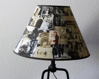 Old Photo Collage Lampshade