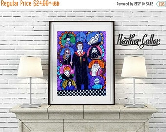 50% Off Today- Harry Potter Art Poster Print of painting by Heather Galler Art of Painting by Heather Galler - Kids Room Fan Art (HG508)