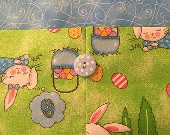Table Runner - House Warming Gift - Handmade Gift - Easter Eggs with lightblue center - Gift for Mom ** Gift for Mothers Day