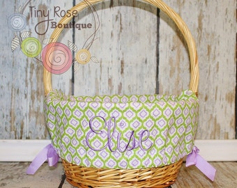 Easter Basket Liner - Comes Personalized