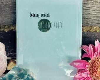 Stay Wild Moon Child Greeting Card Paper Spiritual Awakening Witch Wiccan Pagan Enlightenment Chakras Handmade Mercury Retrograde