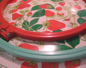 lovely vintage plastic embroidery hoops