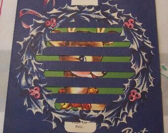 vintage pull tab christmas card