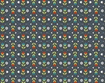 Riley Blake Designs Dutch Treat Dutch Stripe Gray Fabric  - 1 yard