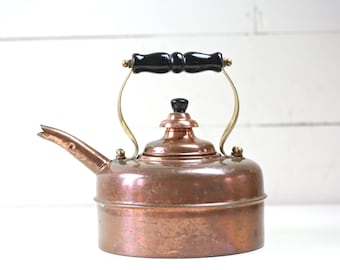 Copper Teapot made in England Vintage copper teapot Kettle