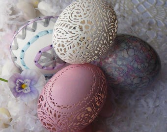 An Instant Egg Collection: Embroidered, Marbled, And Carved Victorian Lace Eggs
