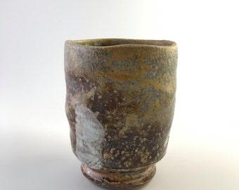 Dark Brown, Grey and Gold Teabowl  (MCP162-1)