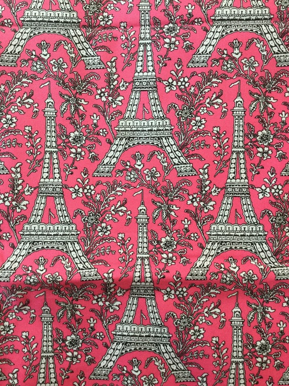 Quilter Quality Fabric Eiffel Tower Michael Miller