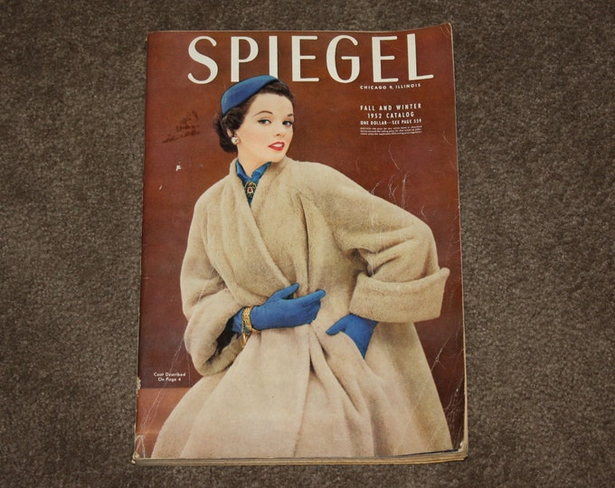 Vintage 1952 Spiegel Catalog: Fall & Winter 1952, 567 pages, Fashions, Decor, Furniture, Toys, Shoes, Mid Century