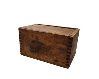 Simonds Steel Saw Mfg Wood Box - Slide Top Finger Jointed Wooden Box - Simonds International