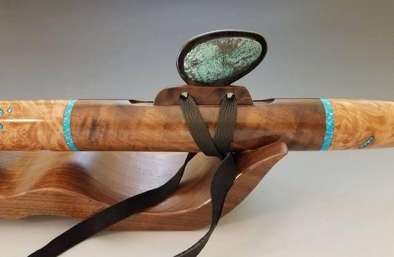 Native American Style Flute, Maple Burl & Walnut