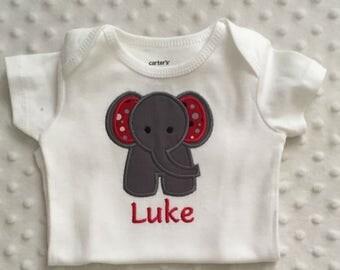 Personalized Baby Boy Elephant