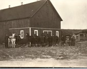 Vintage Photo - Horses at the Barn - Vernacular, Found Photo (A)