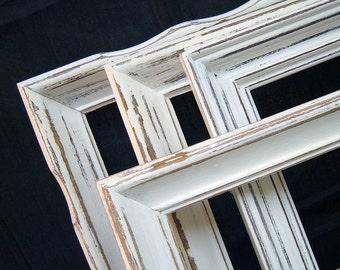 Picture Frame 8x10 Picture Frame 5x7 Rustic Picture Frame Set Shabby Chic Picture Frames White Rustic Frames Rustic Wall Decor Home Decor
