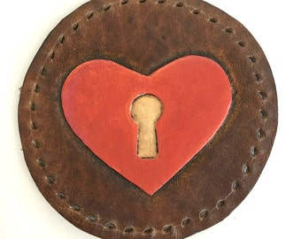 Key To My Heart Leather Patch