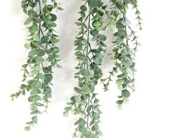 Eucalyptus garland, faux eucalyptus spray, Silver Dollar eucalyptus, eucalyptus leaves, eucalyptus centerpiece, eucalyptus bouquet