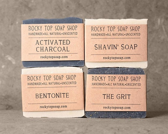 Manly Man Soap Set, Natural Soap, Handmade Soap, Unscented Soap, Vegan Soap, Mens Gift Set, Mens Skincare