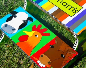 Animals on the Farm Step Stool