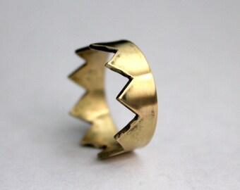18K Gold Crown Ring