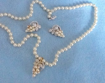 Earrings, pendant, and pearl necklace   ***buy one piece, two piece, or all