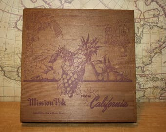Wooden Fruit Box - Mission Pak from California - item #2529