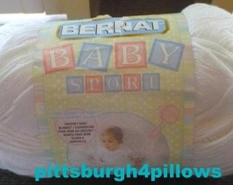 Bernat - Baby Sport Big Ball - 10.5 Ozs - 957 Yards - White - Read Below