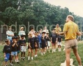 Vintage Photo, Summer Camp Counselor With Child Campers, Childhood, Color Photo, Old Photo, Found Photo, Snapshot, Family Photo,  049.jpg