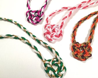 Handfasting Cord with Celtic Heart Knot - Custom Colors - Tie the Knot - Tartan Wedding - 100% Handmade in USA