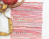 Red Stripe Embroidery Sampler