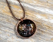 Celestial Space Enamel Pendant Necklace, Wear the Univers On Your Neck - Handmade Jewelry by Reagan Juel: Enamel2