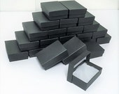 20 Pack Matte Black Boxes (3.25 x 2.25 x 1 in) // ECONOMY SIZE //