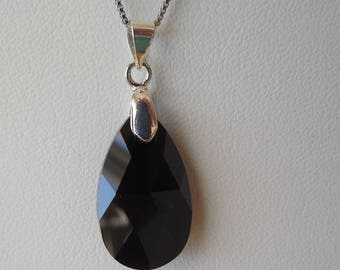 Swarovski Black Pendant Necklace