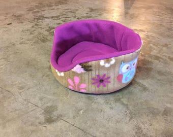 PREMADE Fleece Round Cuddle Cup for Guinea Pig Hedgehog Rat Small Animals