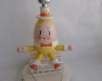 Humpty Dumpty Gender Neutral Nursery Lamp