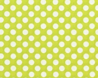 Christmas Sale Michael Miller Fabric - Half Yard Lime Ta Dot