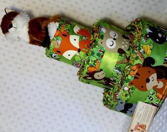Baby Diaper Cake Woodland Animals Fox Topper Shower Gift Centerpiece