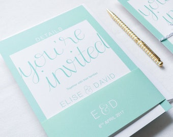 ADD ON: Belly Band | Erin Wedding Stationery Collection | Hand Lettered Wedding Stationery