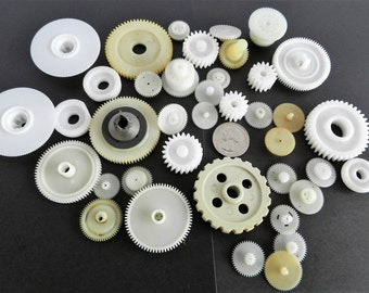 Steampunk- Found Objects- Robot Parts- Gears