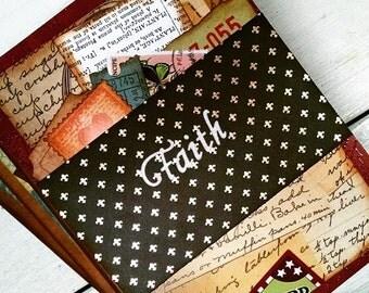 Faith Prayer Journal Unlined Pages Bible Journal