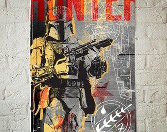Star Wars Art - Boba Fett - Star Wars Patent, Art Print, Boba Fett print, Fan Art, pop art, Illustration, Star Wars Poster, Star Wars Gift