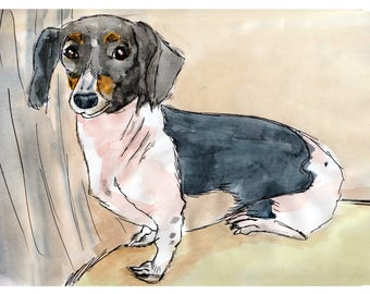 Custom pet art, dog home decor, dog lovers gift, dog painting, pet illustration, watercolor dog painting, dog drawing, draw my dog
