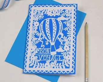Bon Voyage Printed Card, Balloon Card, Sorry You're Leaving Card, sku_WP027