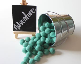 Felt Balls- Adventure Green- 20mm-Pk of 20