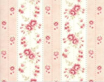 Poetry - Rosebud Stripe in Blush by 3 Sisters for Moda Fabrics